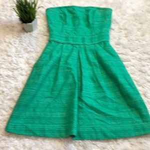 Banana Republic green tweed party dress